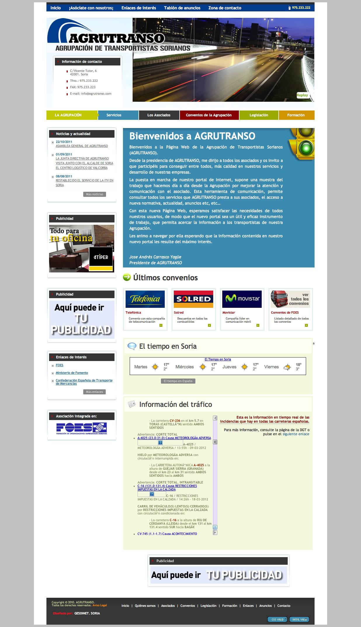 En marcha nuevos desarrollos para Asociaciones de FOES: AGRUTRANSO y ASORTE