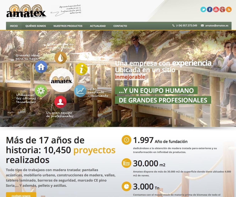 Nuevo diseño web de Amatex SAU