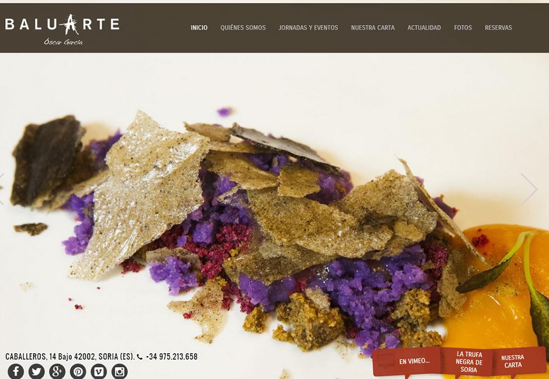 Restaurante Baluarte ha confiado en nosotros para su nueva web