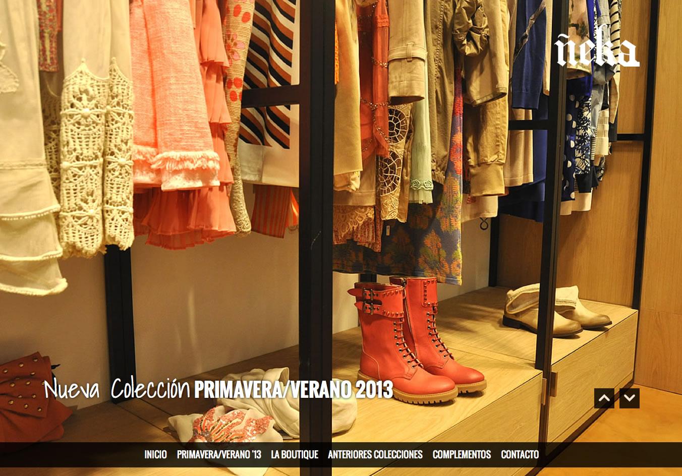 Otra nueva web: Boutique Ñeka