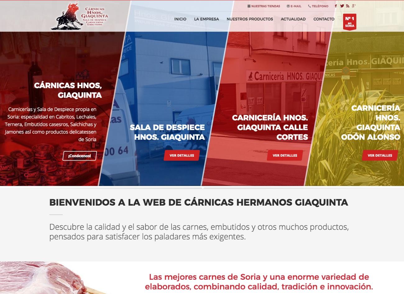 Cárnicas Hnos. Giaquinta han confiado en Gesdinet para la realización de su web