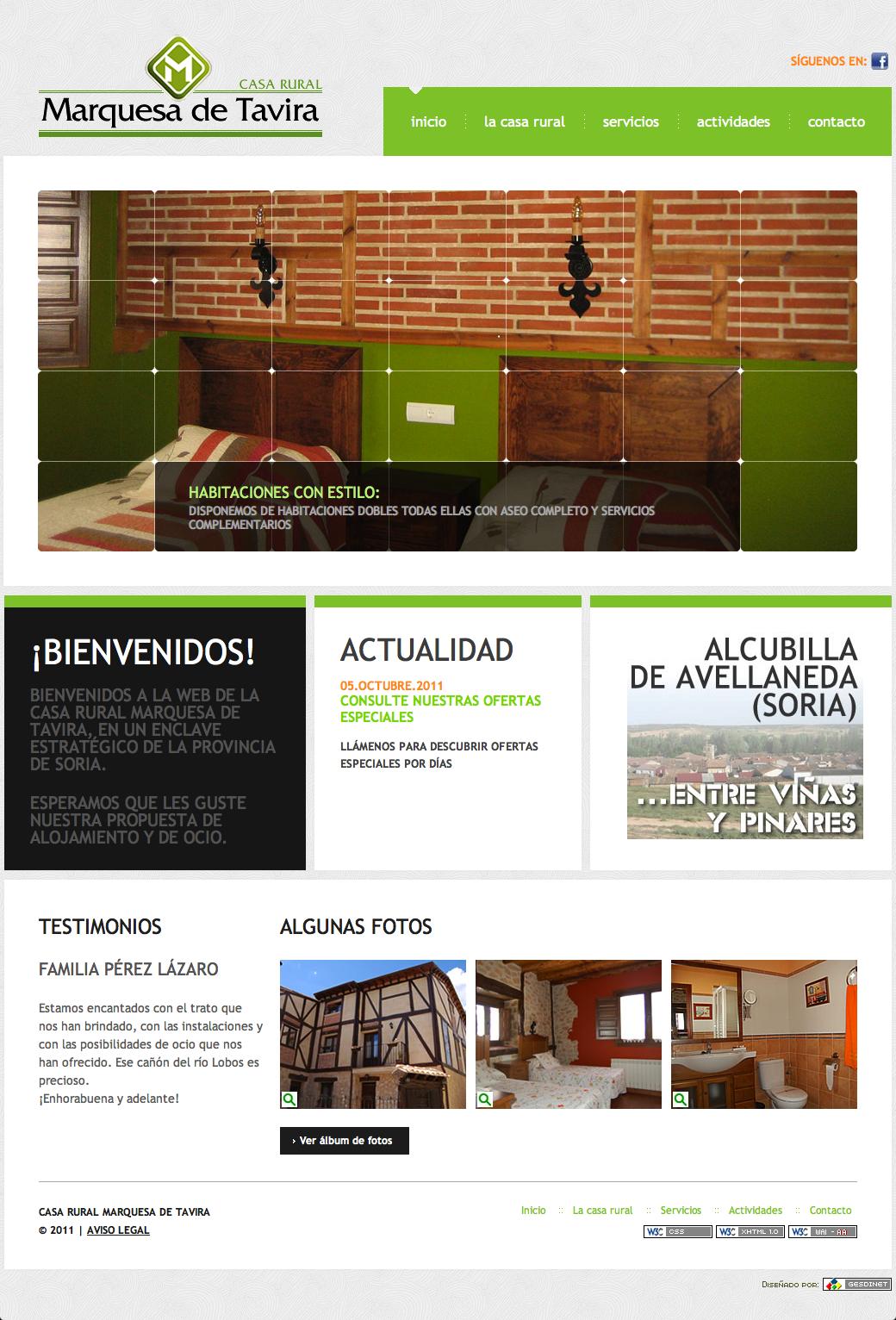 Nuevo desarrollo: Casa Rural Marquesa de Tavira