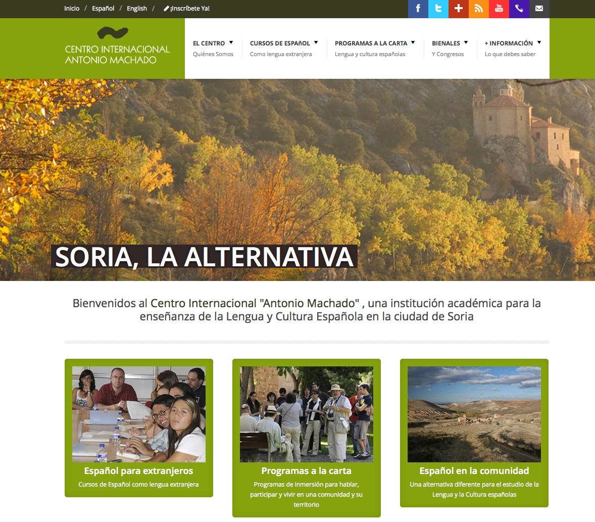 Página web del Centro Internacional del Español