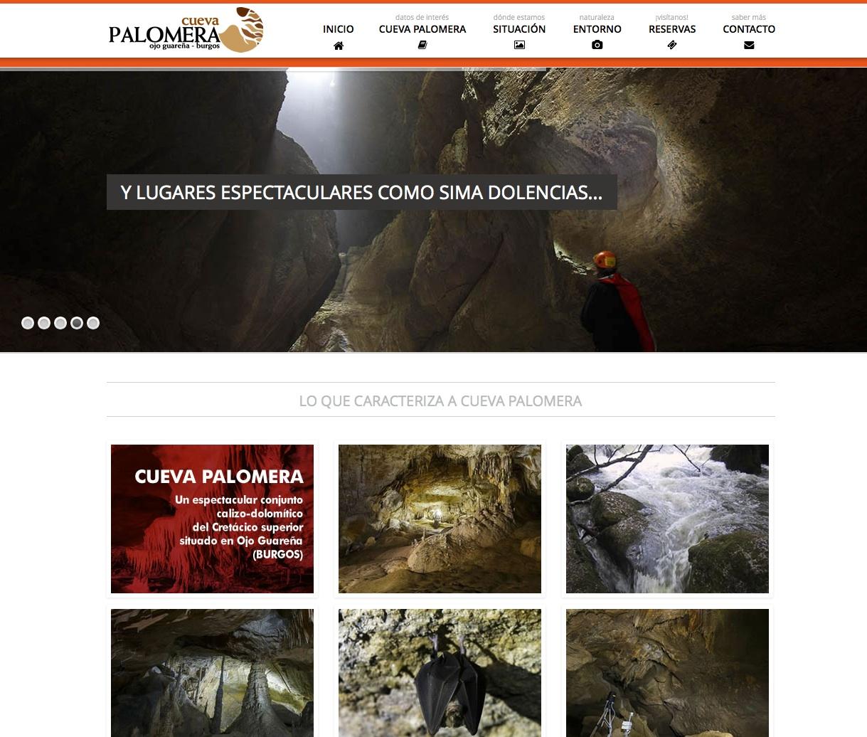 Cueva Palomera, una de las mayores de España, tiene su web creada por Gesdinet
