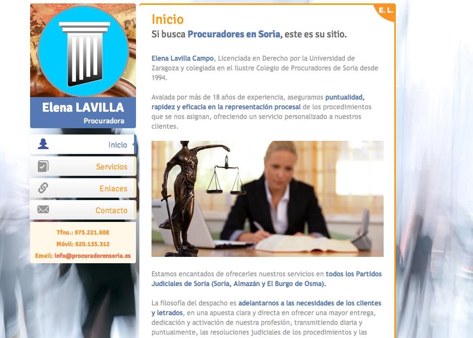 Elena Lavilla Campo (www.procuradorensoria.es)