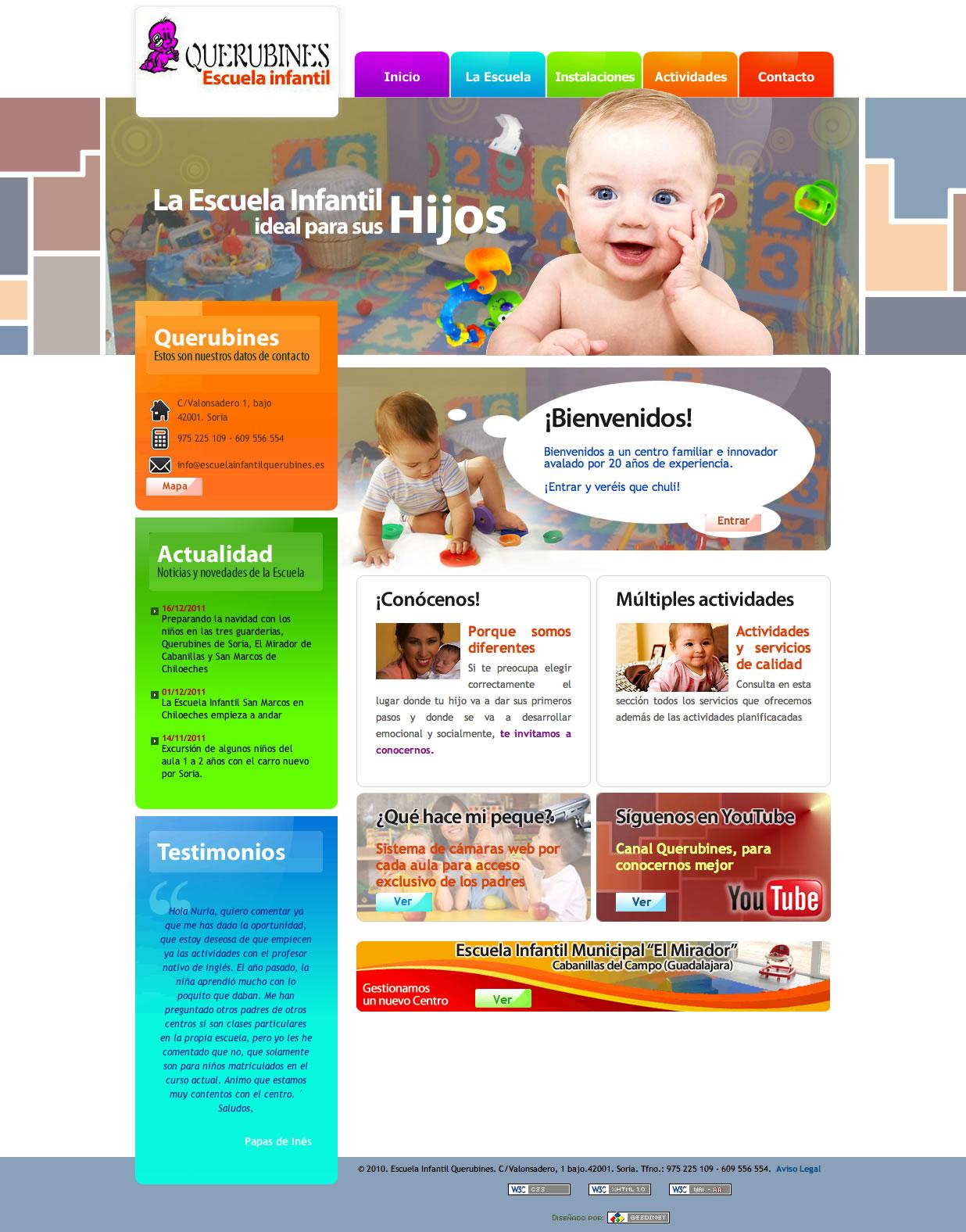 Nuevos trabajos a desarrollar: Escuela Infantil Querubines y Posada de Numancia