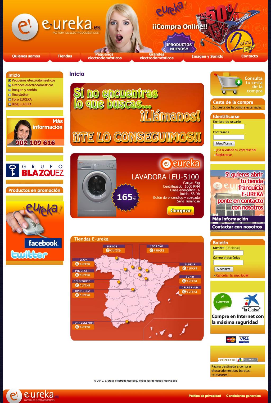 Finalizado el portal de venta online E-ureka
