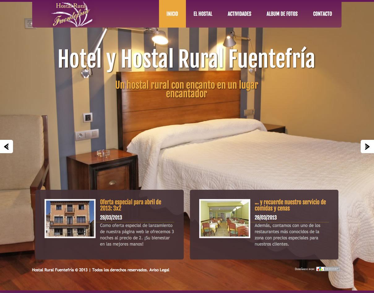 Rediseñada por completo la web del Hostal/Casa rural Fuentefría de Abejar