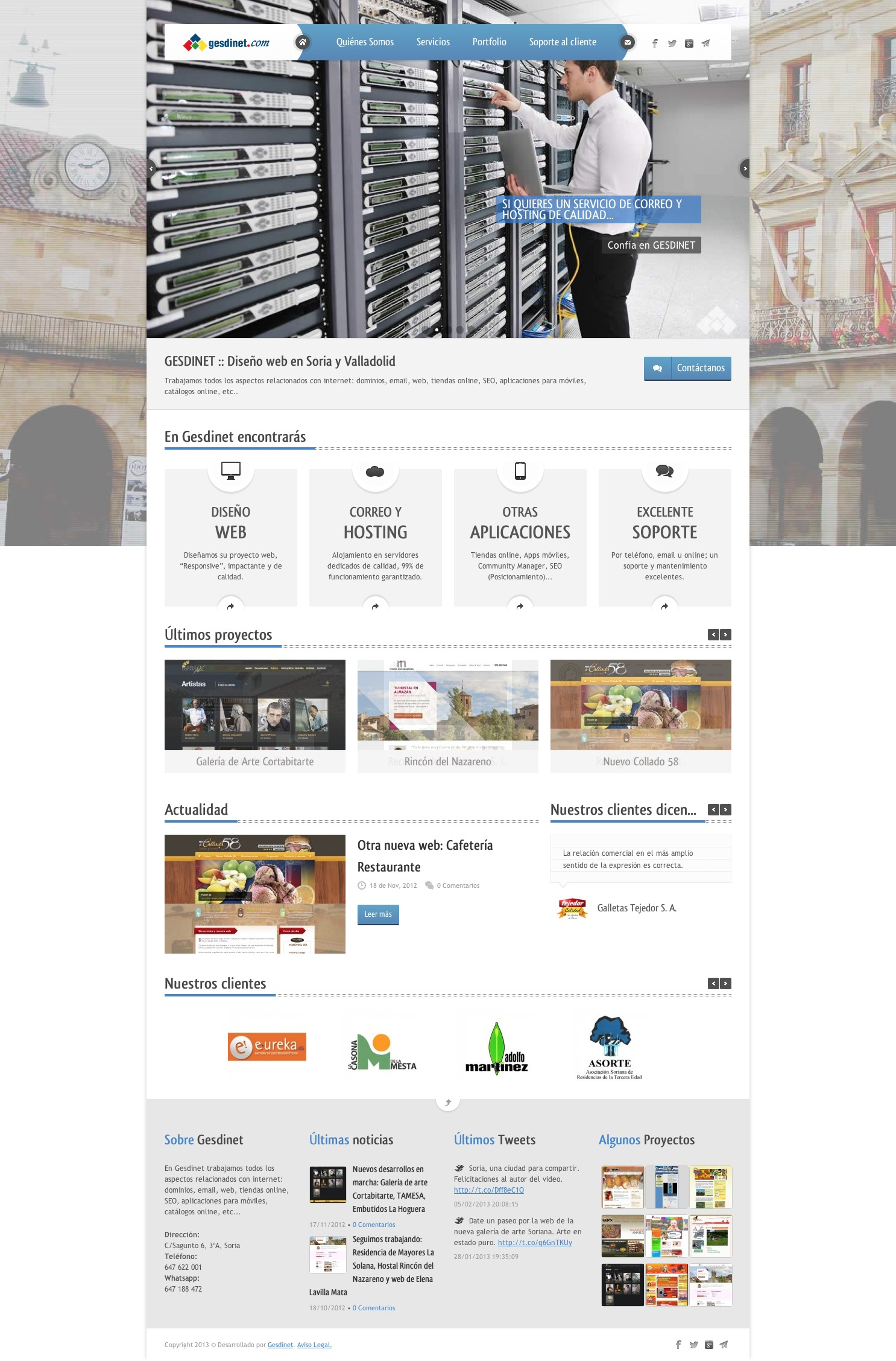 Presentamos nuestra nueva página web