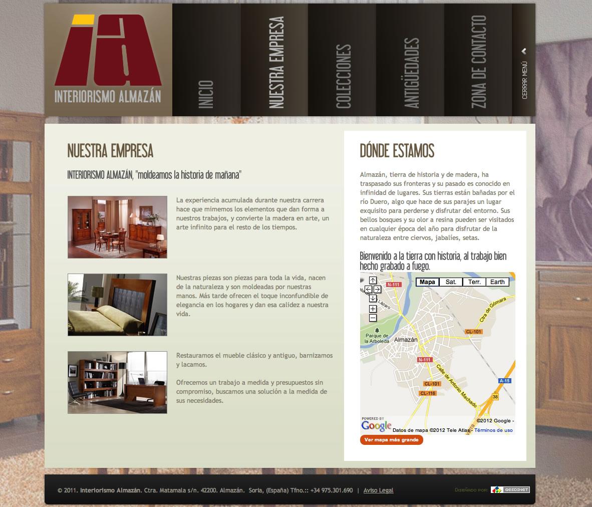 Nuevo trabajo finalizado: la web de Interiorismo Almazán