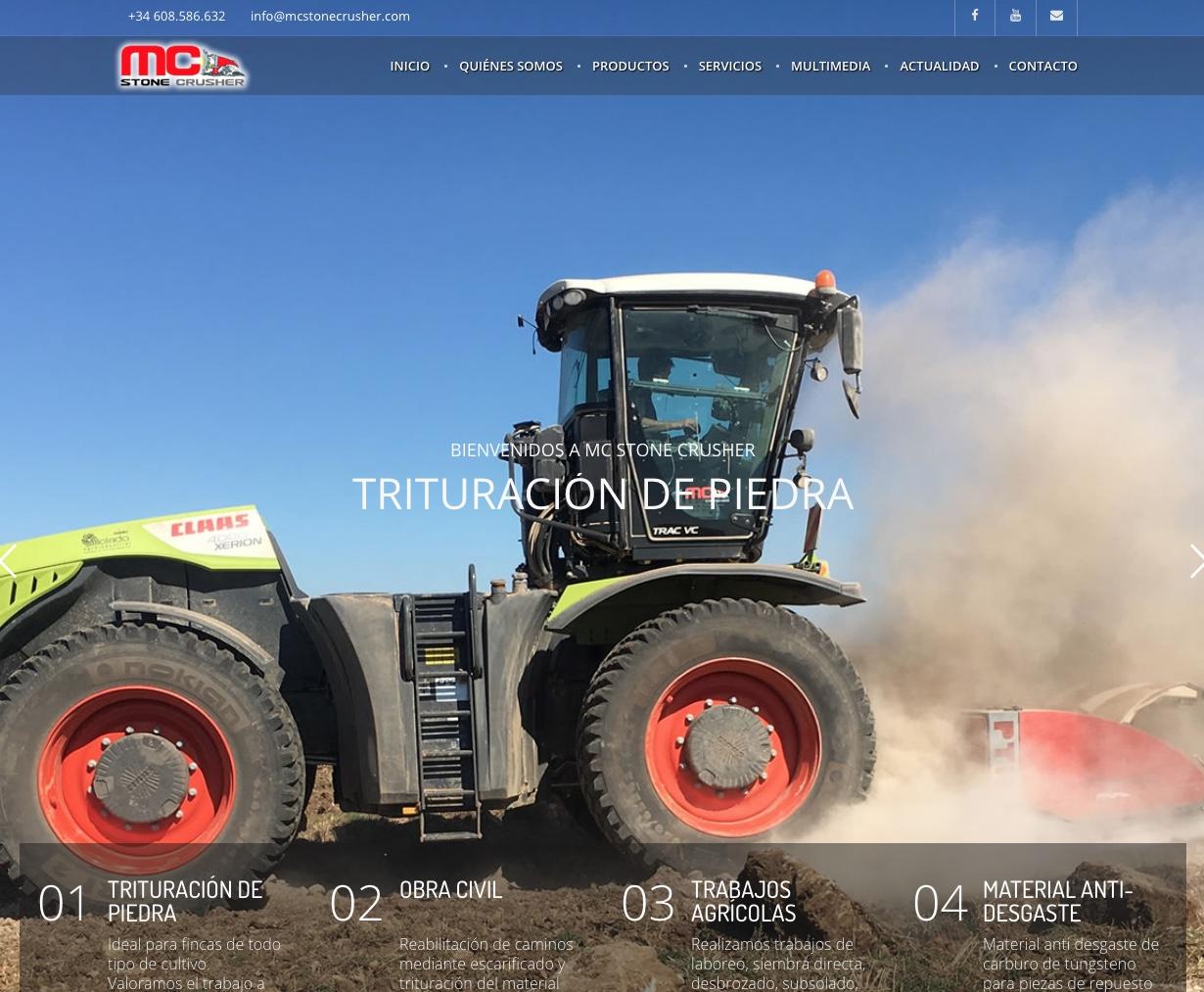 Hemos diseñado la página web de MC Stone Crusher