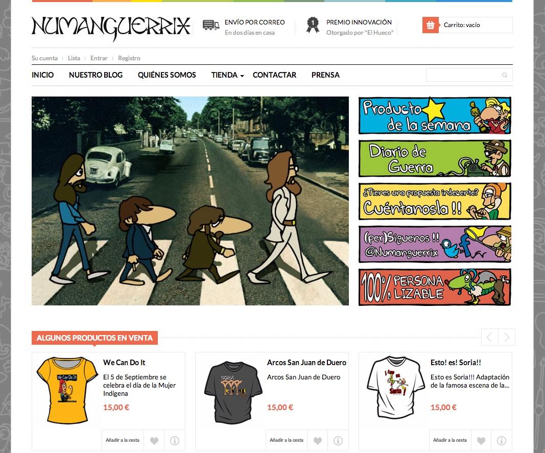 Numanguerrix ha confiado en Gesdinet para el lanzamiento de su tienda online