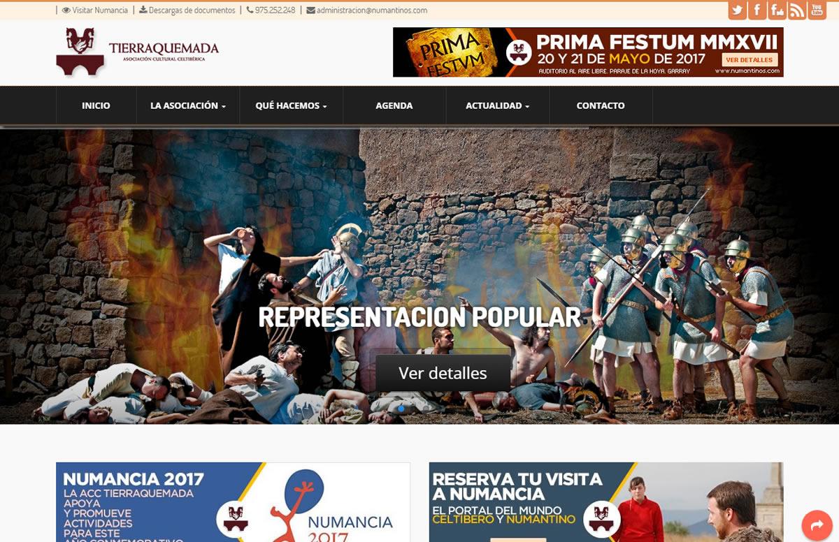 Rediseñada por completo la web de Tierraquemada www.numantinos.com