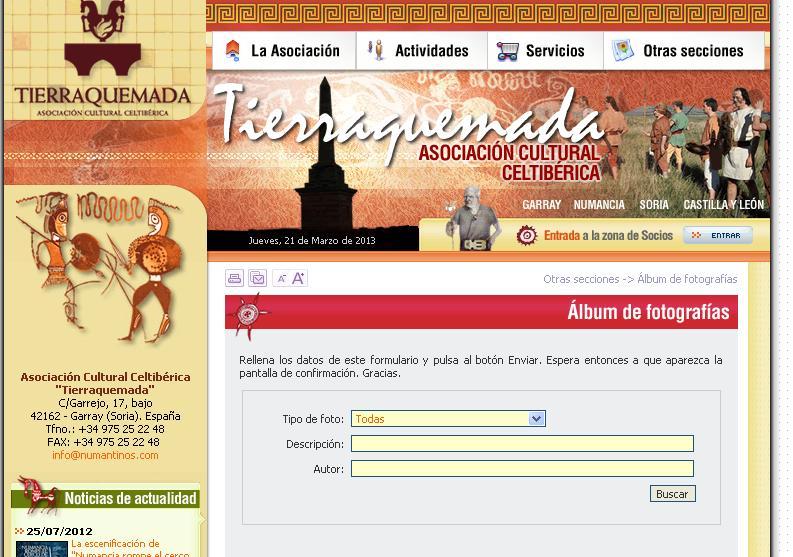 Firmado un convenio para la realización de la web Numancia online