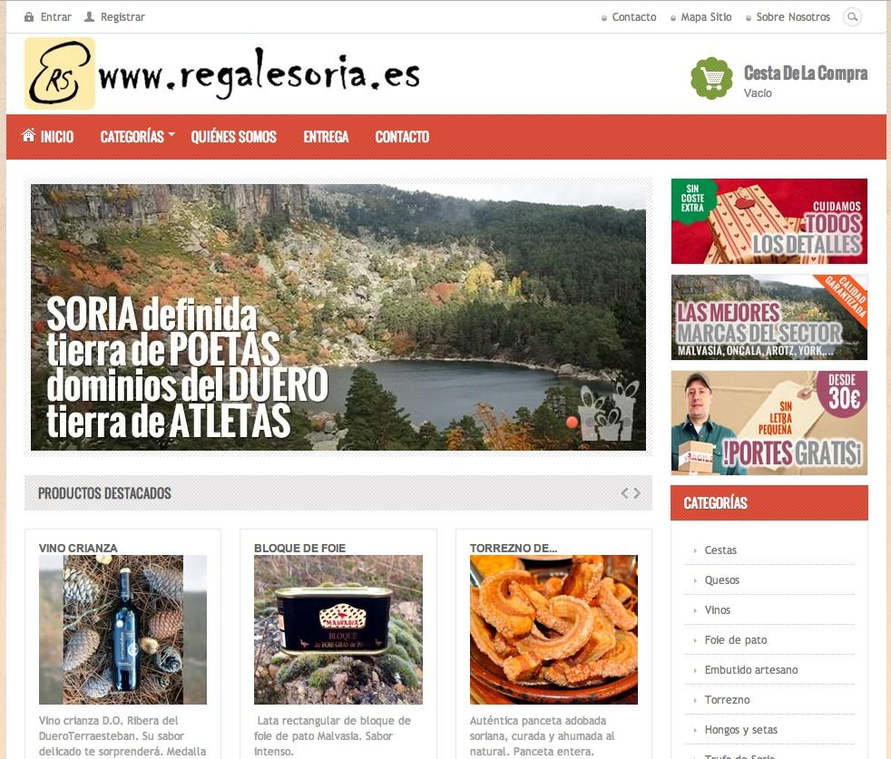 Regalesoria: tienda online de productos sorianos
