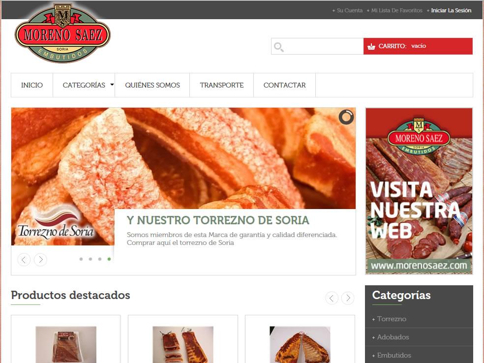 Nueva tienda online: Embutidos Moreno-Sáez