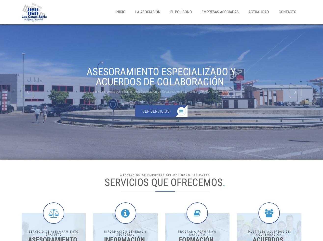 Gesdinet ha creado la nueva web de la Asociación del Polígono Las Casas de Soria