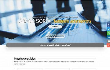 Desarrollo de una nueva web: ABACO SORIA S.L.