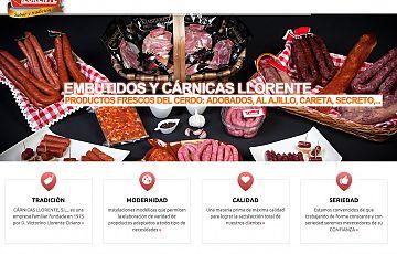 Nueva web finalizada por Gesdinet: Cárnicas Llorente