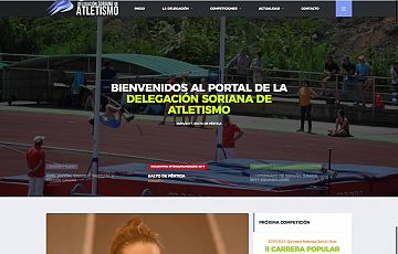 Renovada la web www.soriatletismo.com de la Delegación soriana de Atletismo