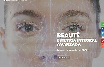 Realizada la nueva web de BEAUTÉ: Centro de estética integral