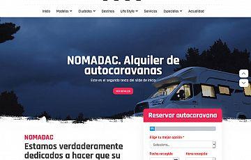 Próxima publicación de la nueva web de NOMADAC: Alquiler de autocaravanas