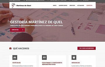 Finalizada la web de la Gestoría Martínez de Quel