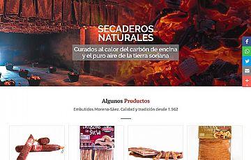 Completo rediseño de la web de Embutidos Moreno-Sáez