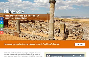 Elaboradas tres nuevas web de Tierraquemada: Numancia, Celtiberia soriana y Celtiberia histórica