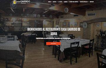 Diseñamos la nueva web del Restaurante Casa Garrido de Soria