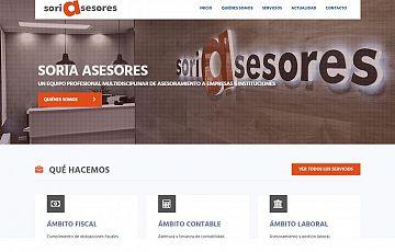 Desarrollamos la web corporativa de Soria Asesores S.L.