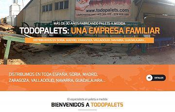 Nueva página web de Maderas y Embalajes Romero (todopalets.com)