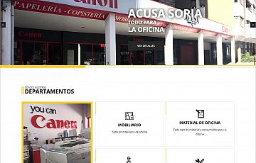 Nuevo trabajo: Web y servicios para ACUSA Soria